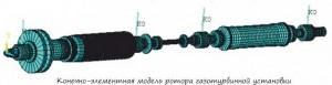 Исследование колебаний ротора газотурбинной установки