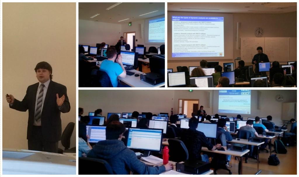 Во время пребывания в Аахенском Техническом Университете Ларин А.А. провел серию занятий со студентами-магистрами