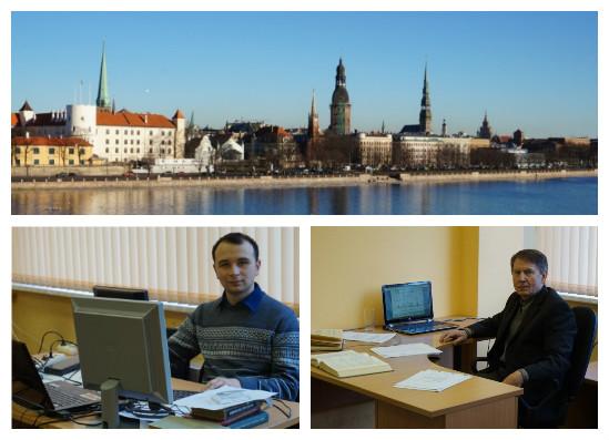 Научая стажировка Федорова В.А. и Водки А.А. в Рижском Техническом Университете (декабря 2014 - февраль 2015)