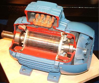 33.Устрій трифазного асинхронного двигуна з короткозамкненим ротором