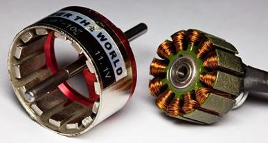 46.Статор і ротор звернений вентильний двигун для електромобіля