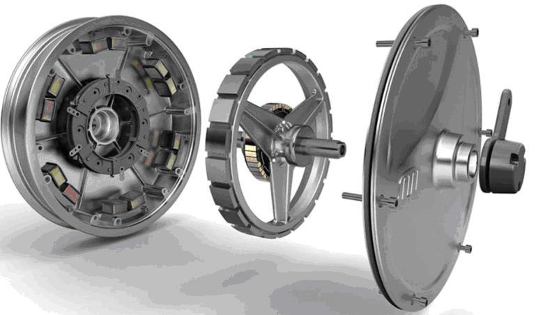 55.Мотор-колесо в розібраному вигляді