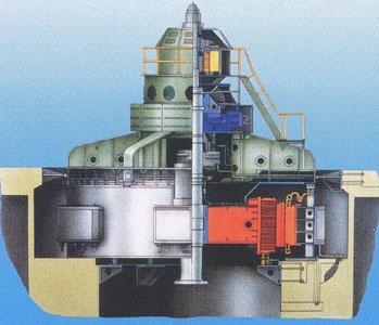 67.Устрій вертикального гідрогенератора з зонтичної конструкцією