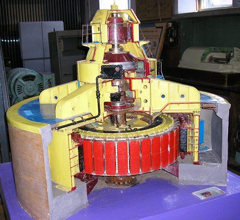 68.Масштабна модель вертикального гідрогенератора
