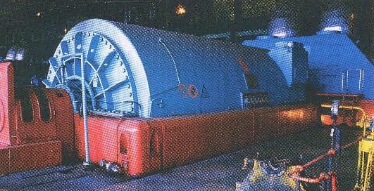 73.Турбогенератор на електростанції