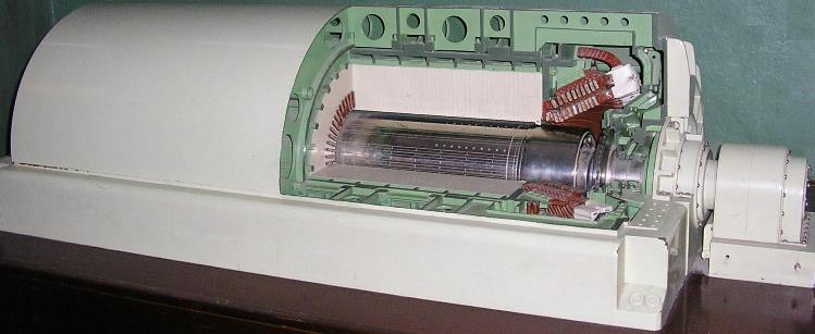 74.Масштабна модель турбогенератора