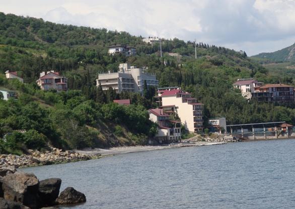 База отдыха и спортивный лагерь НТУ «ХПИ» в Крыму на берегу Черного моря (здание в центре с прилегающими окрестностями – мы туда еще вернемся!)