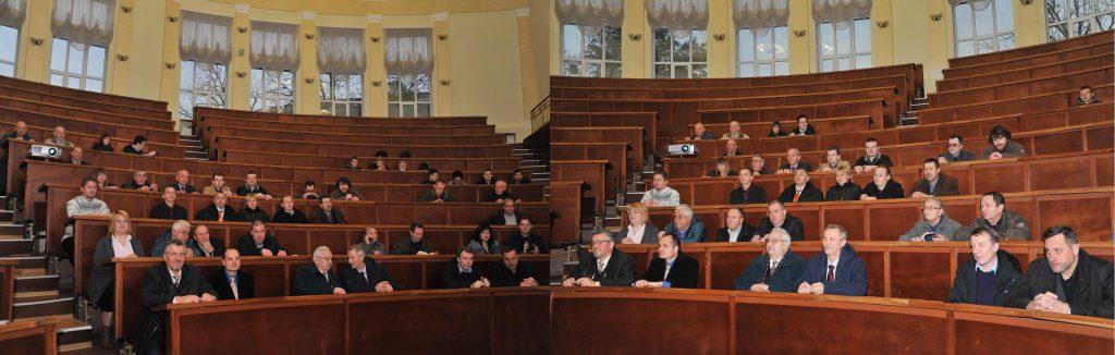 Пленарное заседание посетили ученые из НТУ «ХПИ» и разных городов Украины, а также местные студенты: слева публика очень уважаемая, а справа - еще лучше!