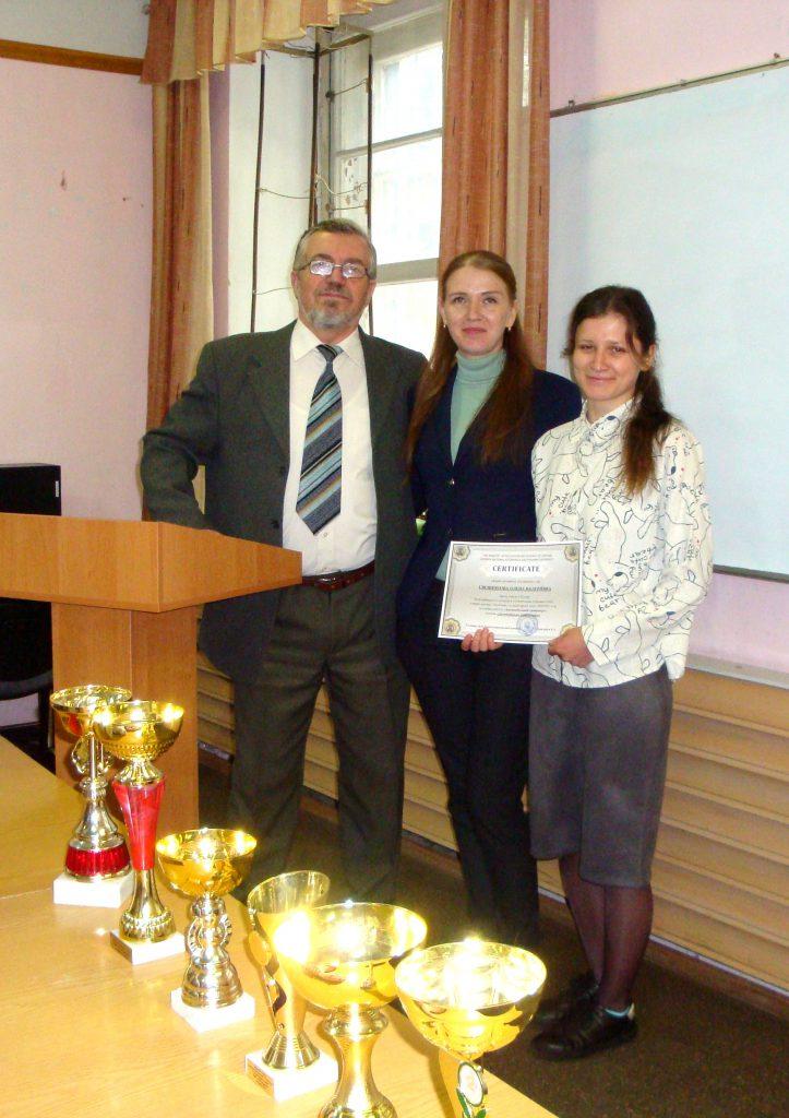 Елена Свешникова - за первое место в КрНУ (Кременчуг)