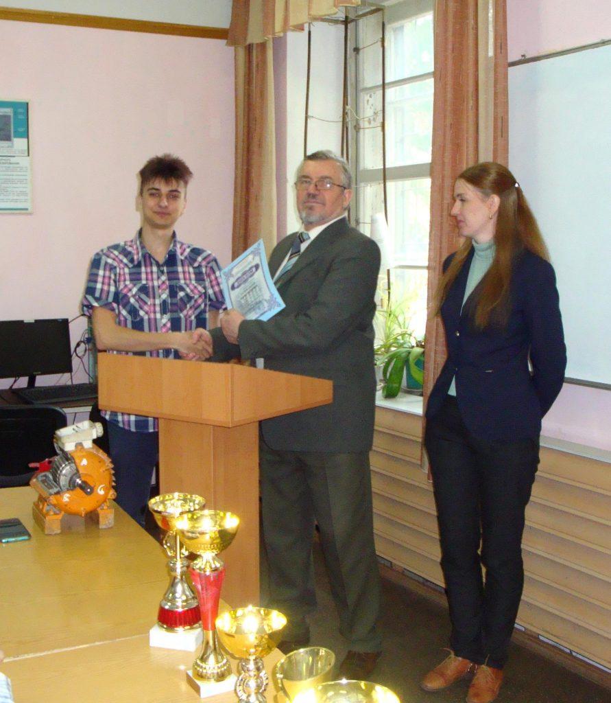 Андрей Сербин - за второе место в ХНАДУ (Харьков)
