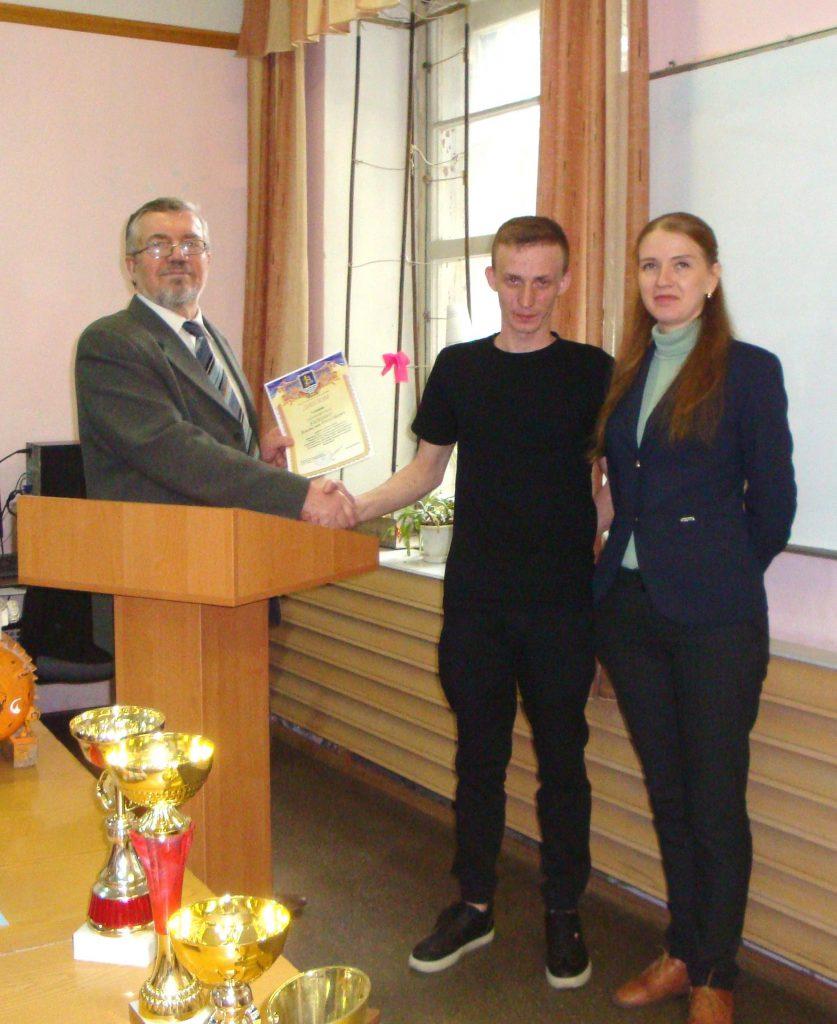 Владислав Катешко - за первое место в КрНУ (Кременчуг)