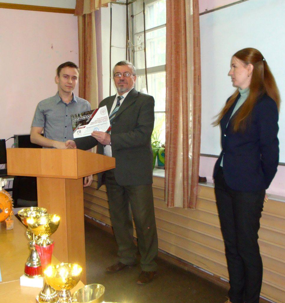 Александр Нагорный - за первое место в КрНУ (Кременчуг)