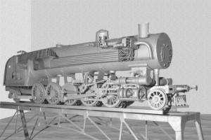 Учебный макет тепломеханической системы паровоза, созданной по идее П. М. Мухачева, отреставрированный в 2009 г. Кривякиным Г. В., Шнурковым Е. П., Якуниним Д. И. и Омельяненко В.И.