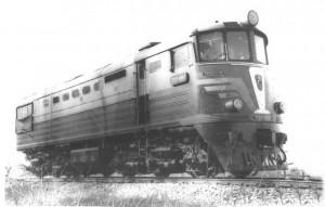 Первый отечественный скоростной тепловоз ТЭ7-001 с пневматическим рессорным подвешиванием