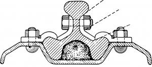 Видоизмененный рельс с тремя головками