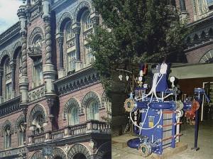 Теплопункт, що встановлено в будинку Національного Банку України