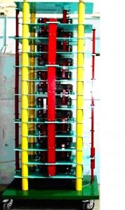 Рис. 5. Передвижной генератор импульсных напряжений ГИН-1,2 на номинальное напряжение 1,2 МВ и запасаемую энергию 15 кДж, созданный сотрудниками отдела ЭМИ в 2006 году