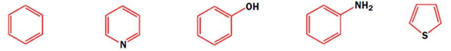 Бензол, пиридин, фенол, анилин, тиофен