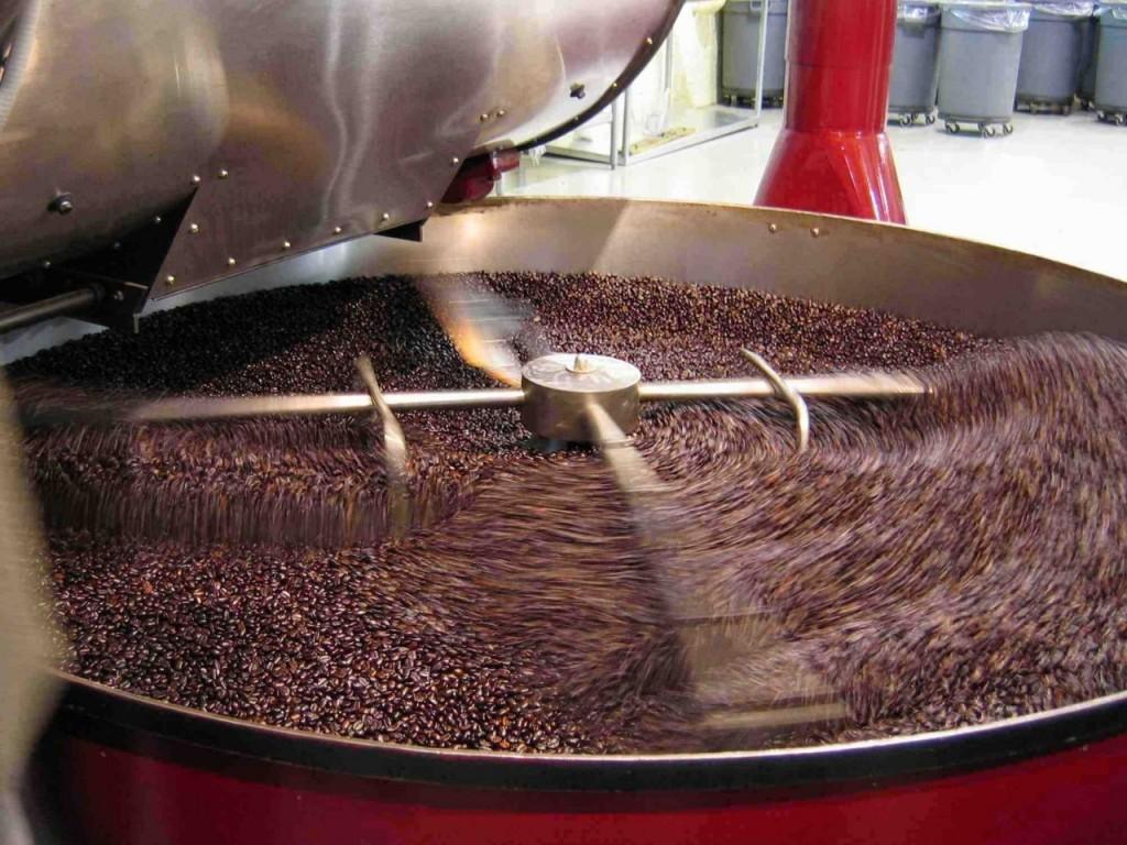 Производство кофе. Обжарка кофе.