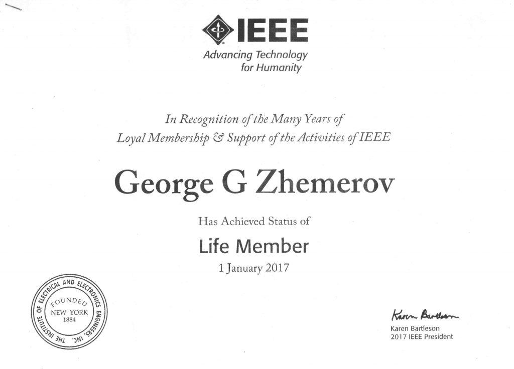 Профессор кафедры получил статус пожизненного членства IEEE