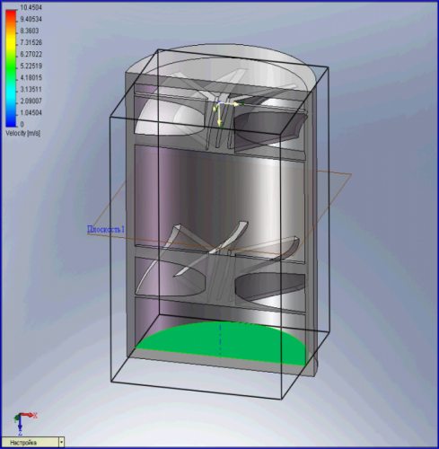 Computer model of turbine body