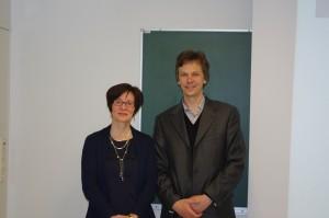 Профессор кафедры ППУСС Мороз В.М. и Dr. Vuokko Kohtamäki (07.04.2015)