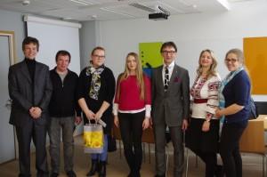 Представители кафедры ППУСС во время посещения Finnish Higher Education Evaluation Council (09.04.2015)