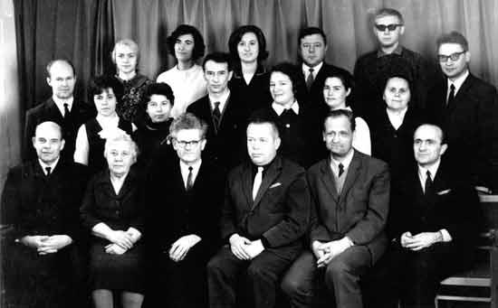 Коллектив кафедры ТММ в 70-е годы