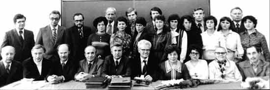 Коллектив кафедры ТММ в 80-е годы