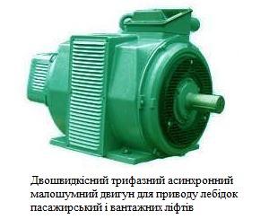 Електродвигун для лебідок