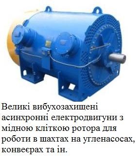 Електродвигун для шахти