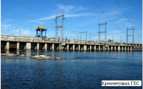 Гідроелектростанція середнього рівня потужності на Дніпрі