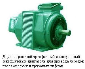 Двигатель для лебедок